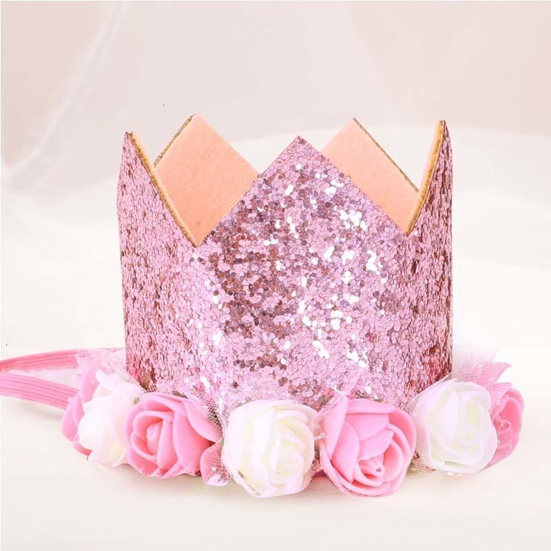 Festa di compleanno del bambino del cappello dei capretti dei bambini fascia Headwear delle ragazze dei ragazzi Priness parte superiore del fiore Hairband Conservare