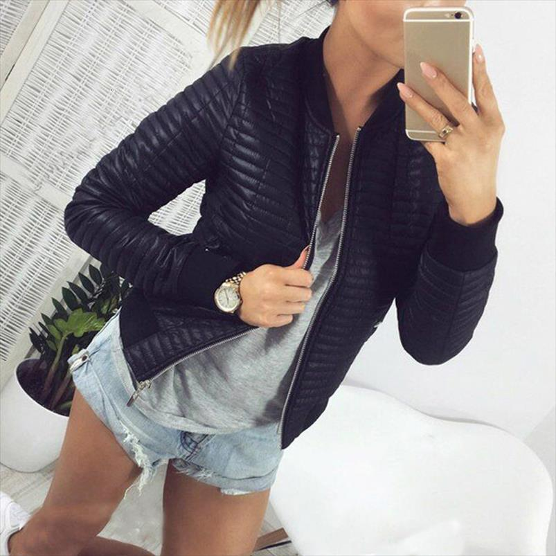 Primavera 2020 Autunno cappotto donna breve sezione Outwear cotone imbottito Warm Jacket femminile casuale outwear parka sottili Abbigliamento 8l1092