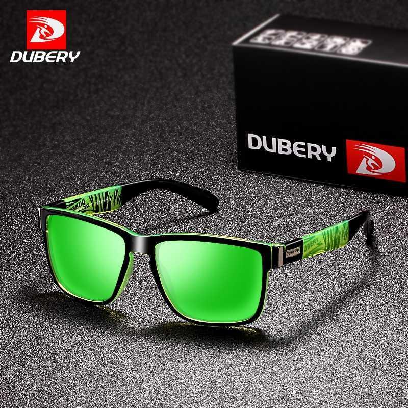Dubery 2020 Sport gafas de sol polarizadas para los hombres de la personalidad Gafas de sol plaza de conducción del color del espejo UV400 diseñador