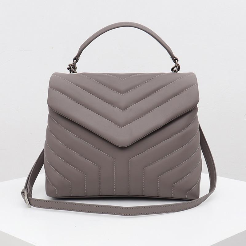 Mujeres clásicas Bolsas Flaps cadena de la bolsa bolsos retro Medio de cuero bolso bolso de embrague del mensajero del totalizador del bolso de Crossbody Type5