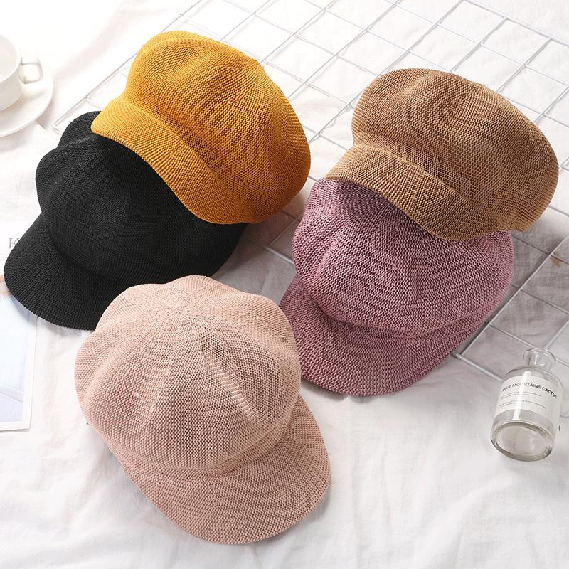 womans cappello di paglia di estate per le donne sole traspirante protezione esterna Casual Ottagonale Cappelli