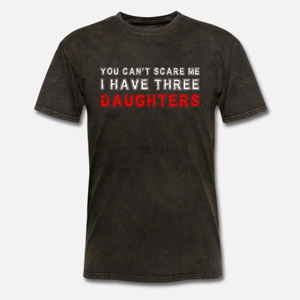 Camiseta de los hombres no puede asustarme que tengo tres hijas mujeres camisetas