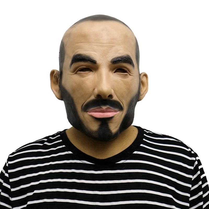 Смешные реалистичные маски партии латекса Headgear Celebrity Real Human Face Прохладный Cosplay маска Halloween Party Decor костюм Prop NEW.