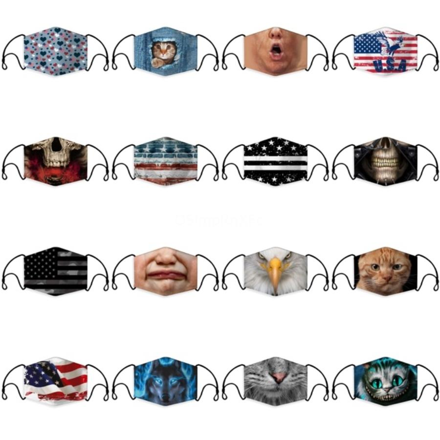 DHL-Schiff! ProtectiveKids Maske Cartoon Gesichtsmaske Anti-PM2.5 Non-Woven 3 Ply Breath Earloop Masken In Stock # 341