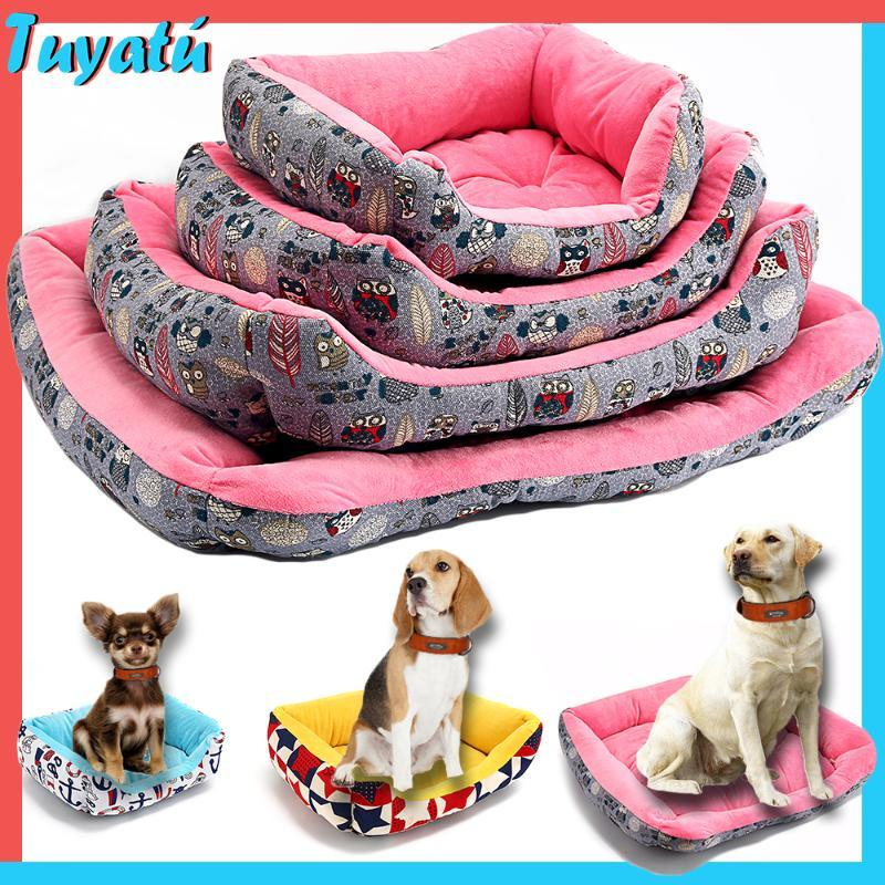 Luxury Fluffy Calming Dog Beds for Large Small Medium Dogs Bed House Cotton Soft Winter Warm Pet Dog Sofa Bed for Big Dogs Pug