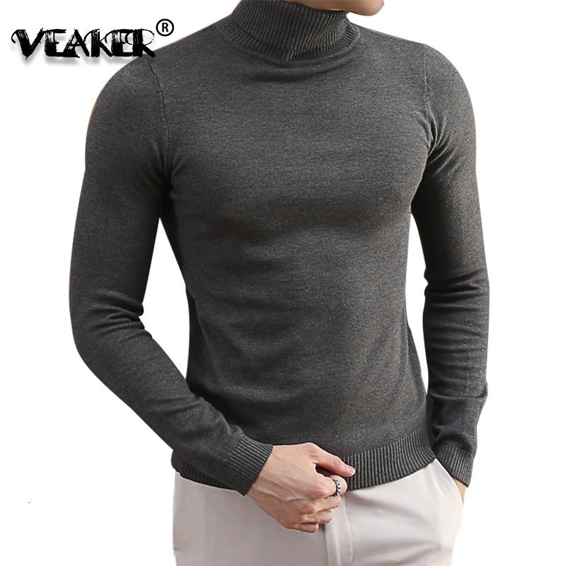 Men's Sweaters Turtleneck For Men 2021 Autumn Knitted Pullovers Korean Knitwear Slim Fit Solid Color Casual Wool S-3XL