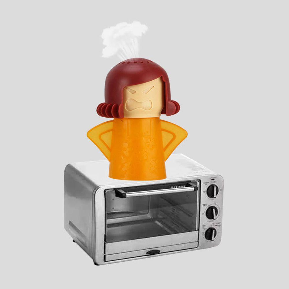 Four micro-ondes Nettoyeur vapeur Angry Mama facilement nettoyer avec du vinaigre et de vapeur d'eau Nettoie désinfecte Outils de cuisine Maison Nettoyage
