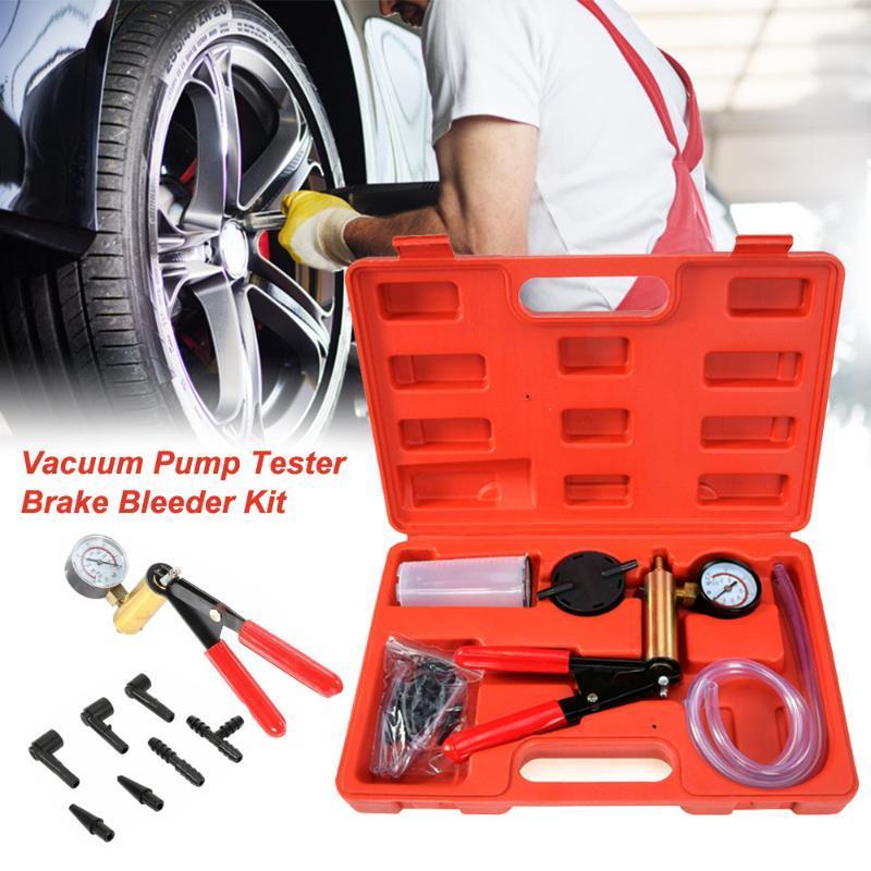 Ручной профессиональный автомобилей Вакуумный насос давления тестер Комплект тормозной жидкости Bleeder с коробкой