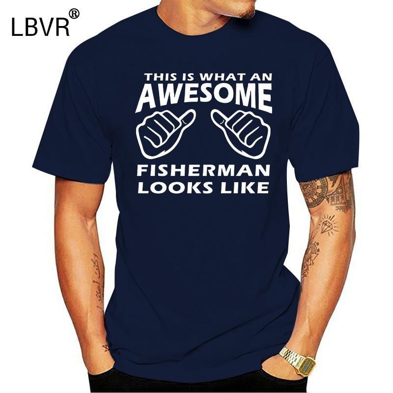 Удивительный Рыбак - Mens Смешные Рыбалка Футболка Present Gift Рыболов Angling Забавный дизайн Tee Shirt