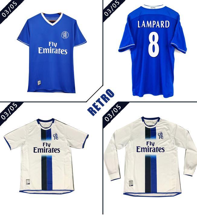 2003 2005 Lampard Retro Soccer Jerseys Classic 03 05 Drogba Torres Terry Veron Cole Vintage football shirt