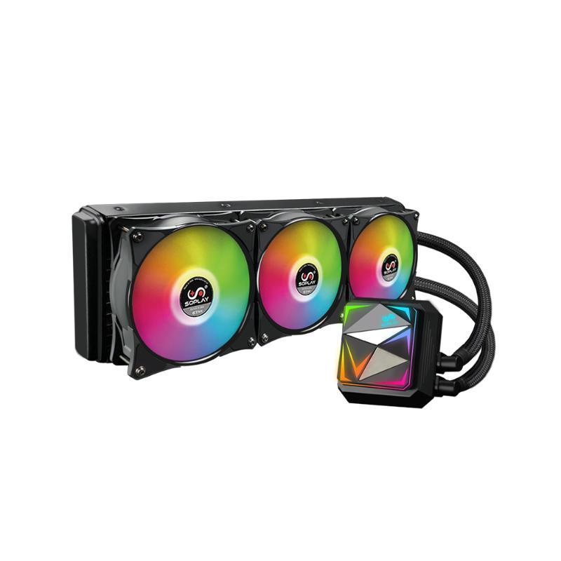 SOPLAY CPU Cooler Water Cooling Cooler Fans CPU Radiator RGB Silent 360mm Radiator Support Intel &amp AMD for Computer