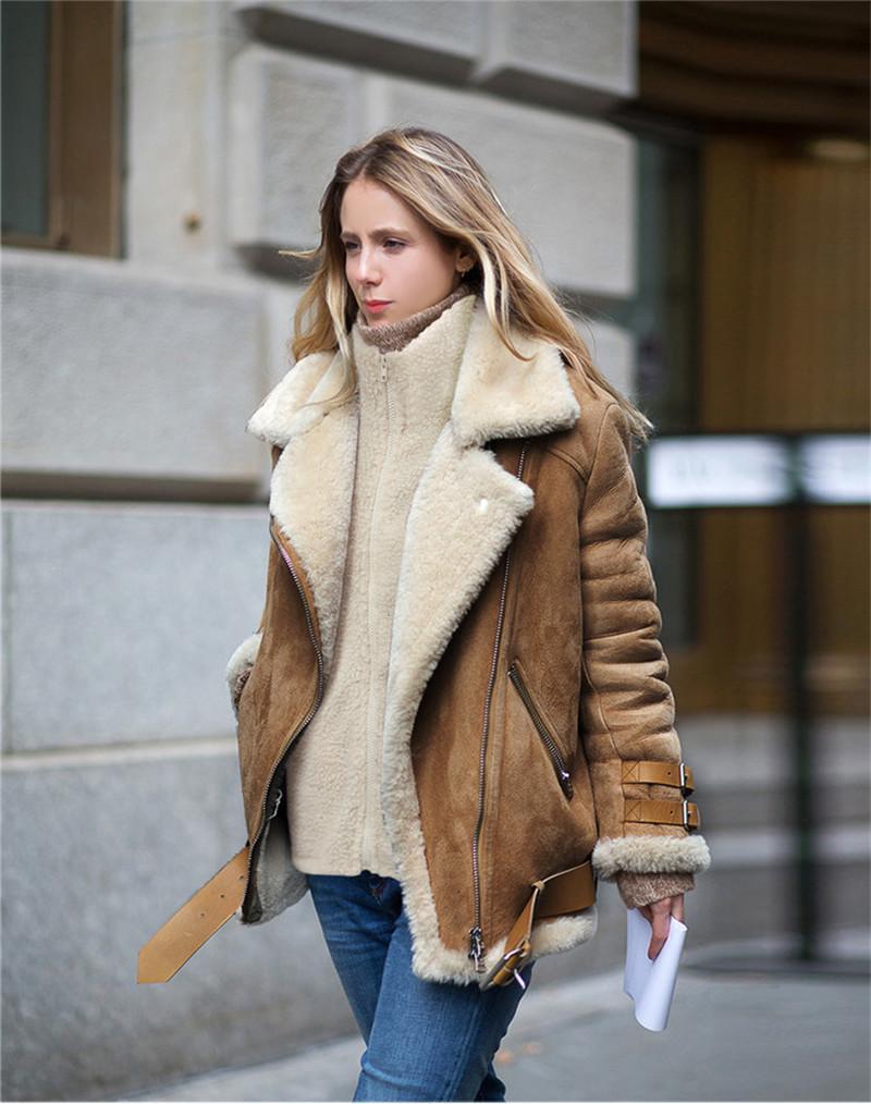 Kadınlar Kış Ceket Moda Standı Yaka Fermuar Yaka Uzun Kollu Katı Coat Kuzu Yün Sıcak Palto Kış Kadın Giyim