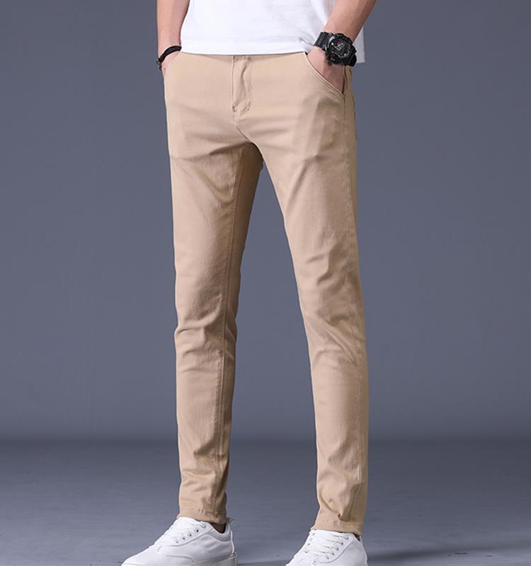 vendedora caliente de 2020 hombres nuevos diseñadores de tendencia de lujo suelta los pantalones casuales pantalones lápiz euro americanos verano delgado versátil pantalones para hombre delgadas