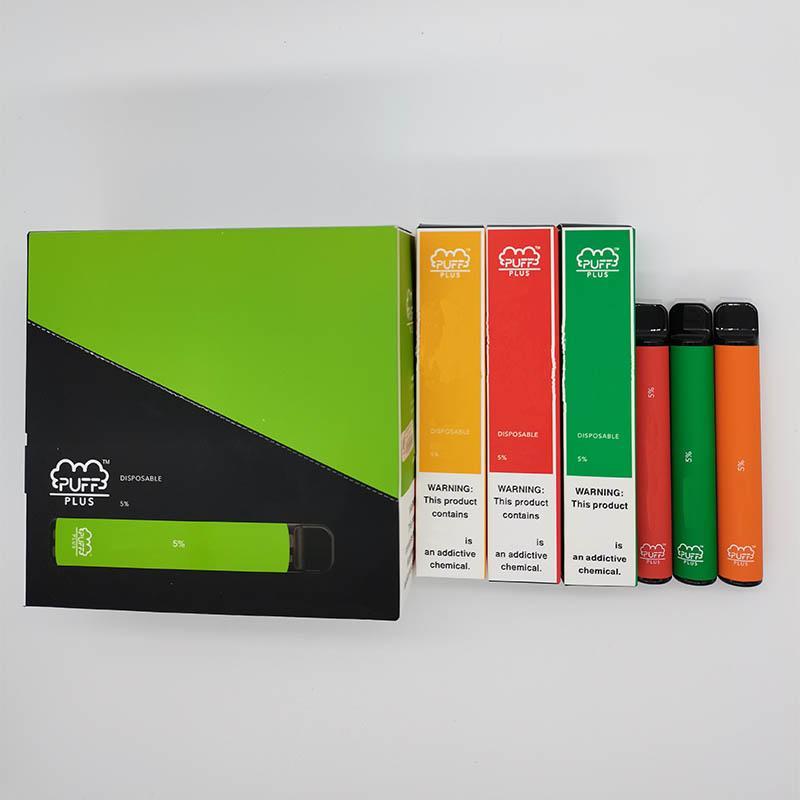 vape à usage unique Puff plus 800 + bouffées 550mAh ecigs à usage unique mis à jour Puff Bars 32 couleurs OEM dispositif jetable de 3,2 ml de cigarette électronique gratuit dhl