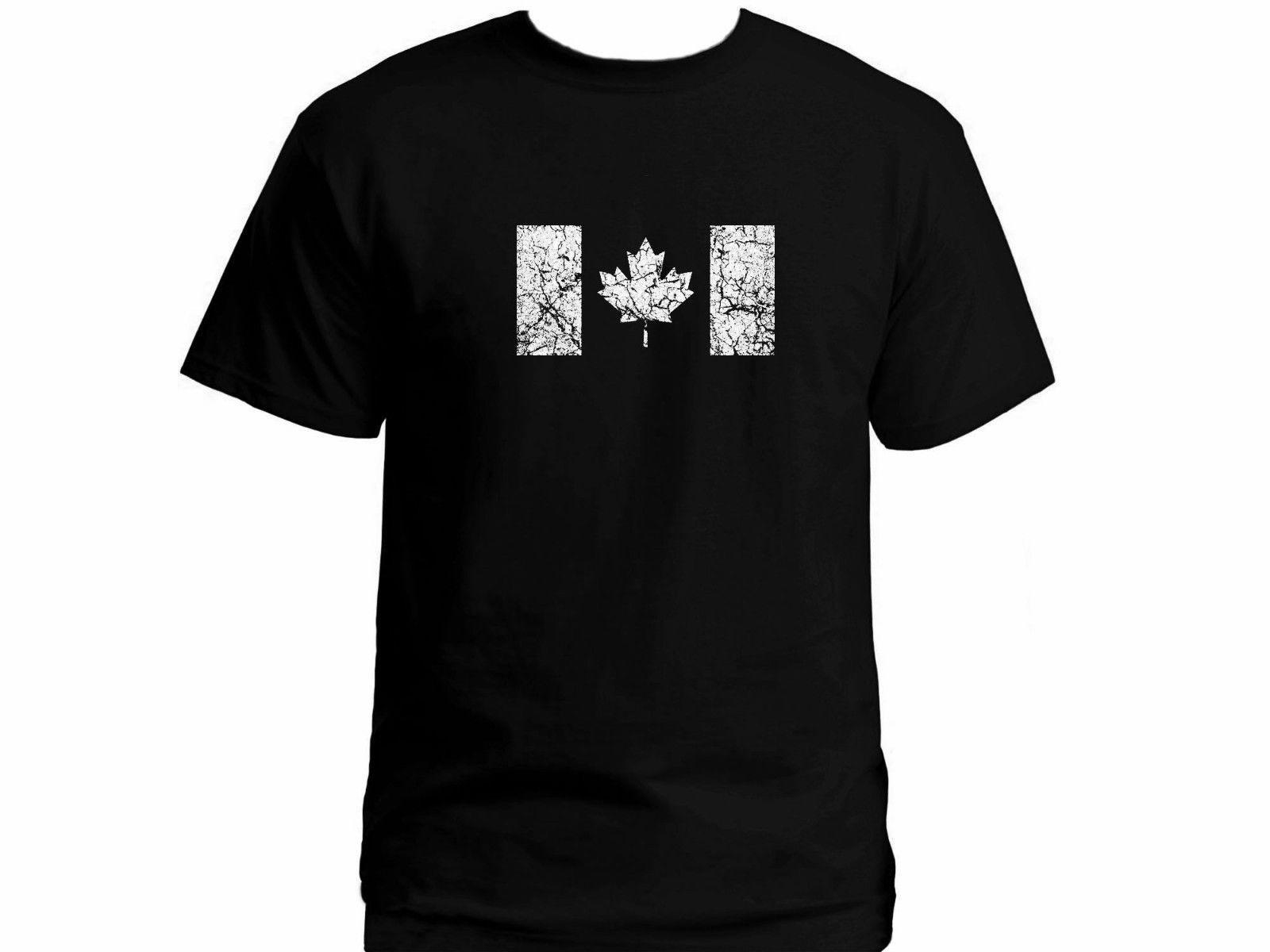 retro canadiense mirada angustiada gráfico militar divertido camiseta de los hombres de la nueva llegada del verano de manga corta casuales tapa de la manera Tees