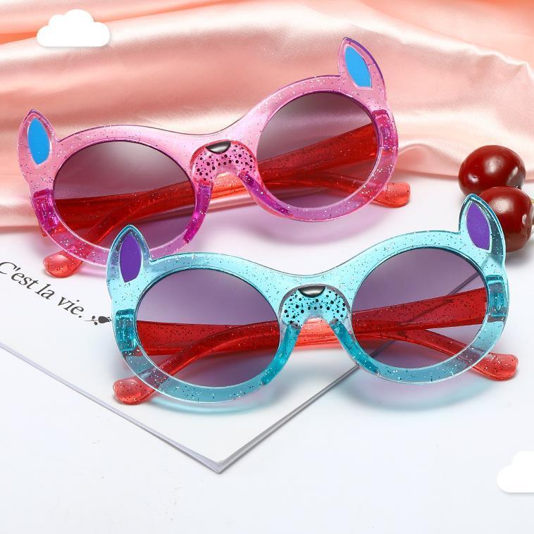 Moda Infantil desenhos animados Sunglasses dálmata Quadro Sun Óculos Anti-UV Espetáculos do bebê óculos Transparen Frames coloridos Adumbral A ++