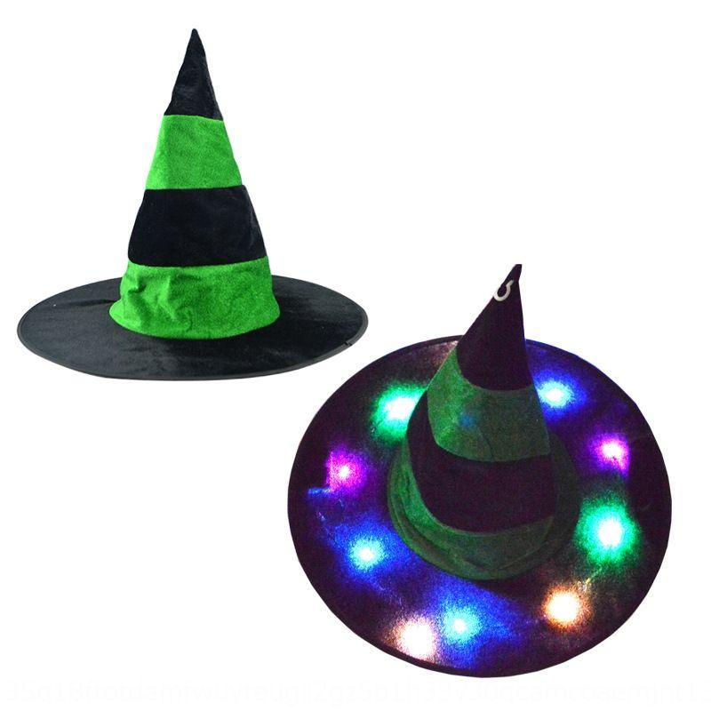 Halloween incandescente ornamento fantasma festa del partito femminile di Halloween incandescente ornamento festa fantasma cappello della strega del partito del cappello femminile strega l7YCM l7YC