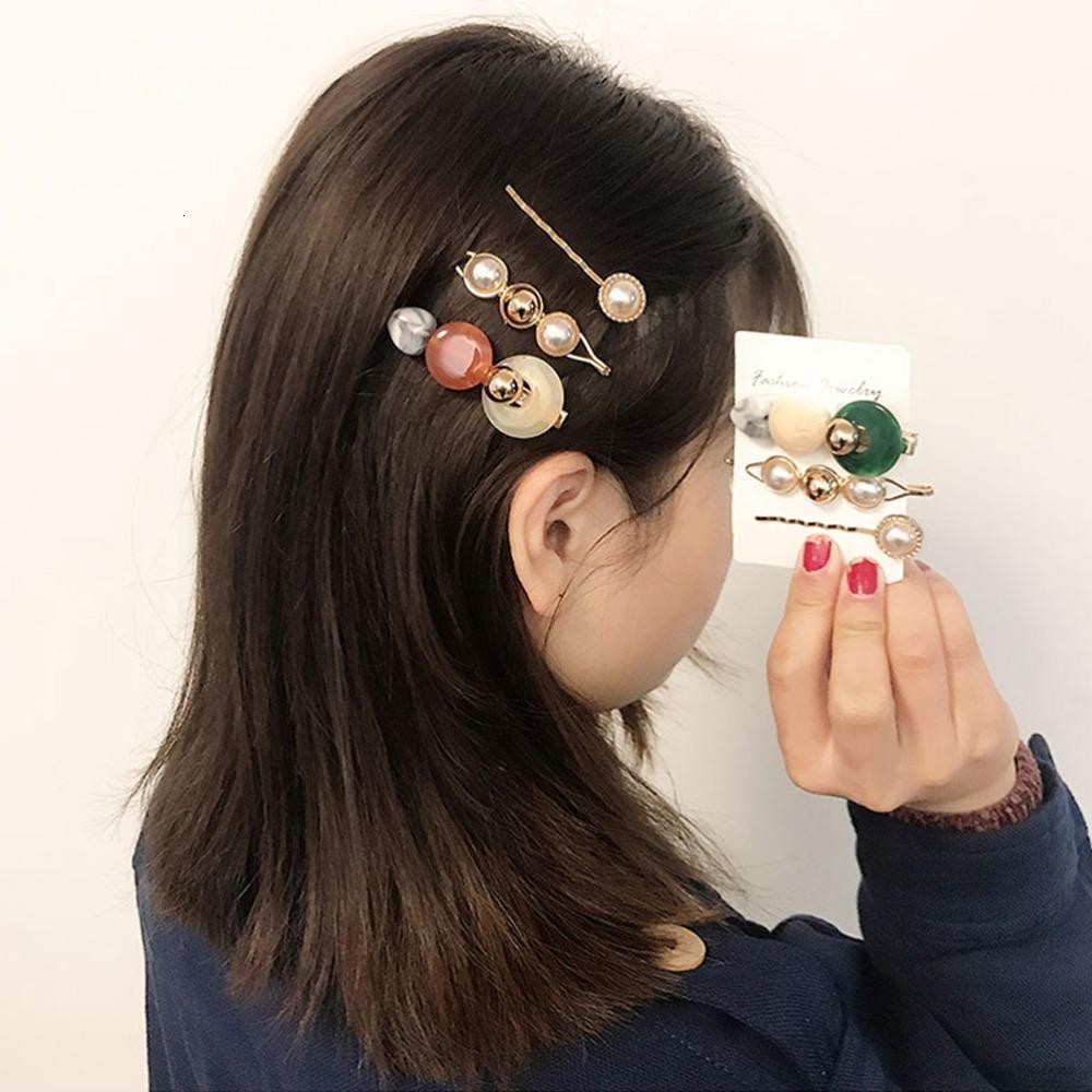 м MISM 3шт / набор Ins круглого корейский жемчуг клипы Сладкие Ацетат Заколка Шпилька Женщина Девушка Аксессуары для волос Para El Кабельо