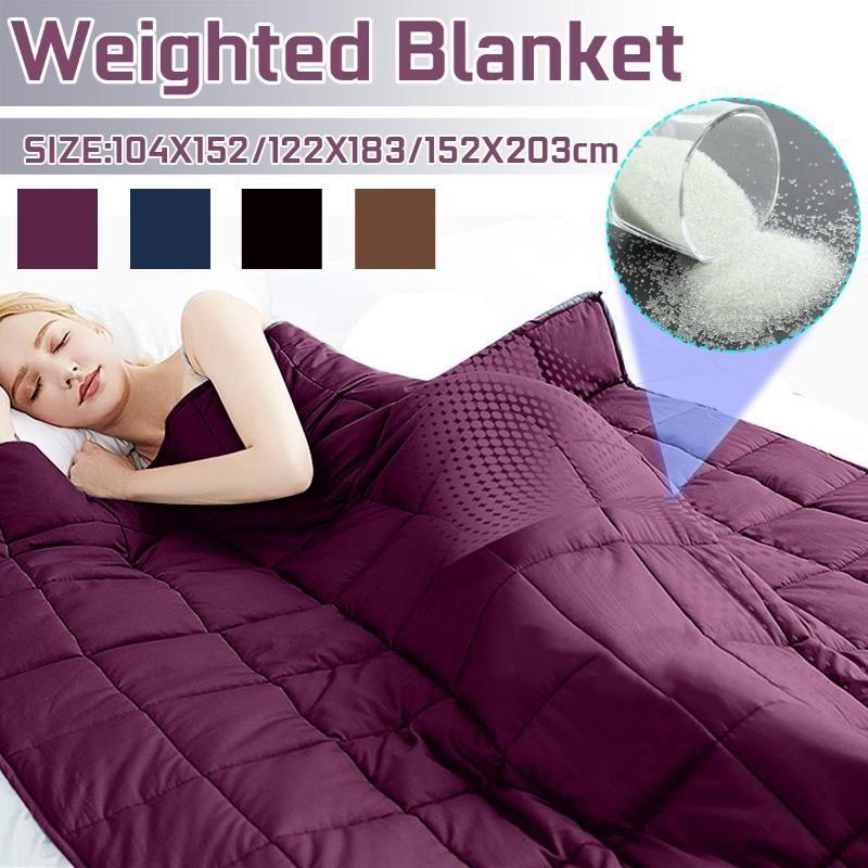 Взвешенная Одеяло для взрослых детей Одеяла декомпрессии давления взвешенного Одеяло Soft Тяжелого Одеяло для дивана-кровати