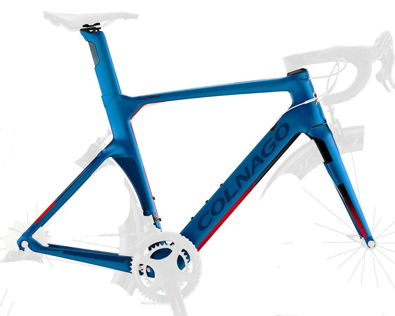 Colnago Concept Disque Cadreset NJbl Blue Cadre Matte Cadre Carbon Cadres de Vélo Cadre Cadre de vélo de carbone 2021