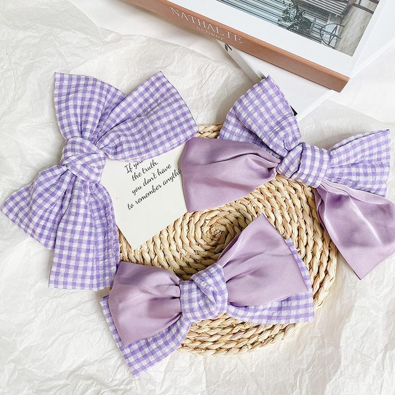 Purpurrote große Bug-Haar-Krawatten-Schnapp-Haar-Clips Schmetterling Bogen-Haarnadeln Mädchen Schmuck Haarschmuck für Frauen Bowknot Kopfoberteil und hintere Barrettes