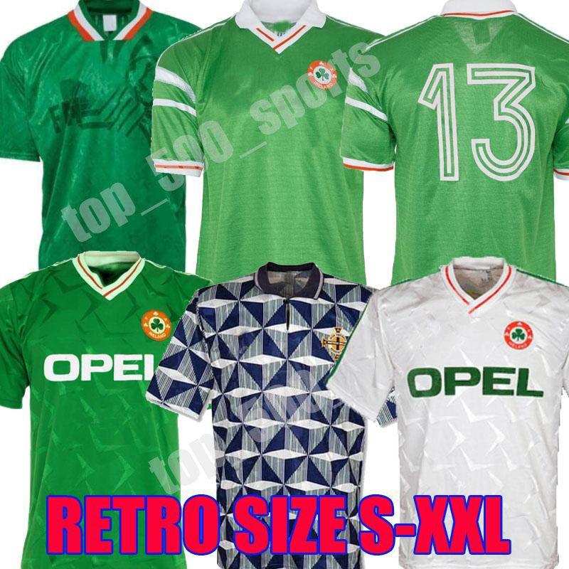 1990 1992 1994 1988 아일랜드 레트로 축구 유니폼 90 93 94 월드컵 아일랜드 클래식 빈티지 아일랜드 타운센드 Staunton Houghton 축구 셔츠