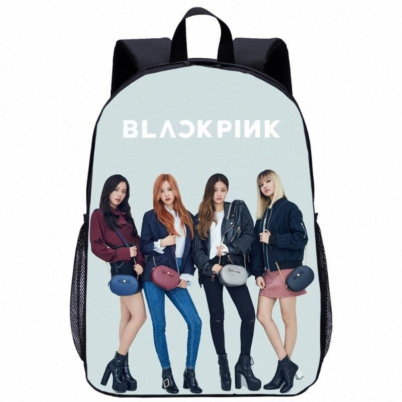 Black Pink Lisa Rose Jisoo Jennie Bag Child School Bag Travel Kit College Backpack Laptop Computer Kids School 5db2#