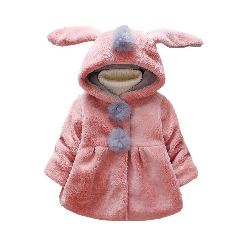 Günlük Kış Bebek Kız Palto Çocuk Artı Kadife Kalınlaşmak Dış Giyim Çocuk Faux Kürk yakalarına Yaka Polka Dot Ceket Keep Sıcak