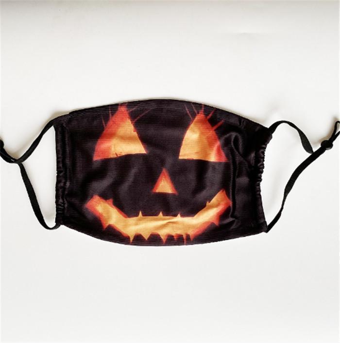 Máscara Adulto face Crânio engraçado reutilizável 3D Pintura Máscara abóbora Careta face algodão reutilizável de protecção Filtros Máscara lavável Rosto