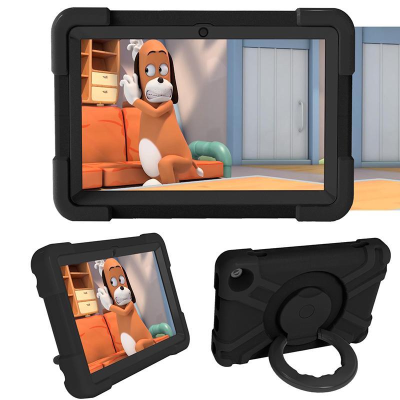 360 درجة للتدوير غطاء حامل ضد الصدمات لأوقد النار HD 8 2020 EVA حالة مع مقبض لالأمازون النار HD 8 زائد