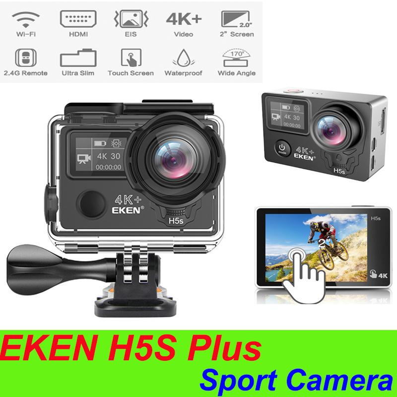 Original EKEN H5S plus EIS Native 4K Ultra HD 2 inch touch screen Action Sports Camera WIFI HDMI 170 Wide Angle remote control waterproof DV