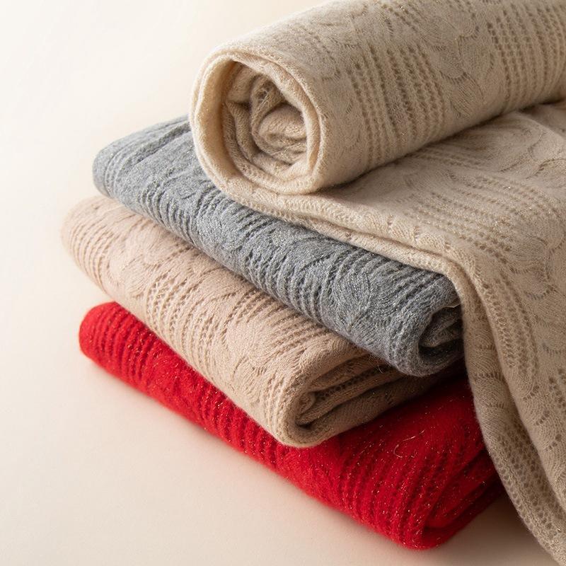 femmes écharpe pur cachemire tricotée automne et l'hiver 20 nouveau cachemire grand chaud tout match chaud et doux 100% écharpe