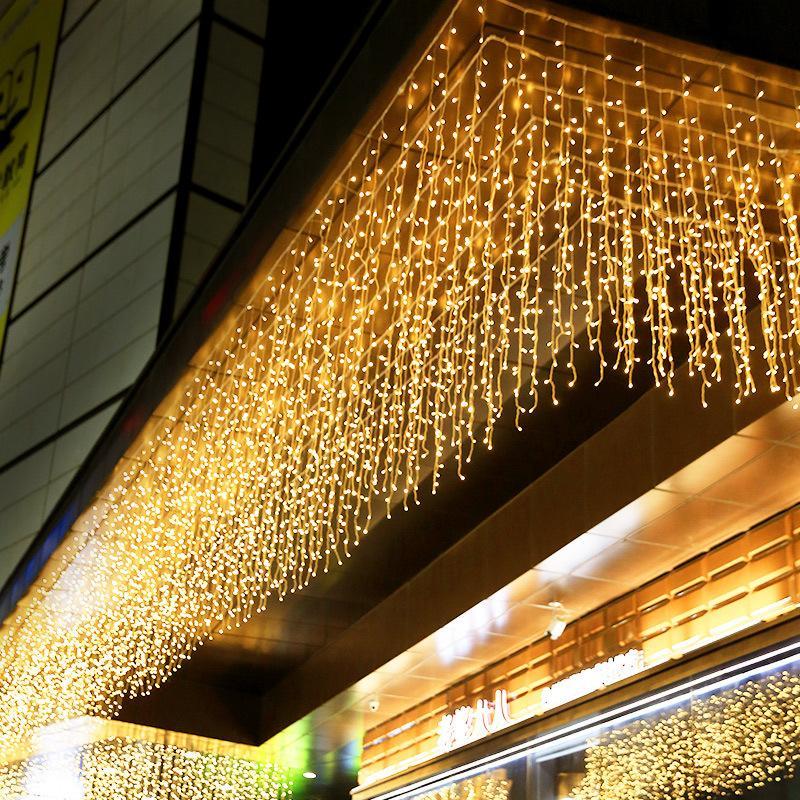 Guirlande LED Twinkle étoile 3 * Fenêtre LED 3M rideau Guirlande fête de mariage jardin Chambre Extérieur Intérieur Décoration murale Y200903