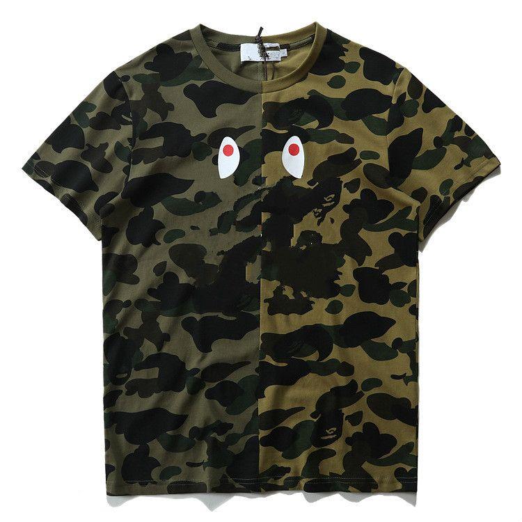 Mens Tees Brand T Shirts Tops 2019 Brand Shark Mouth Pattern Top Tees Unique Clothing Short Sleeve Tshirt Mens Tops