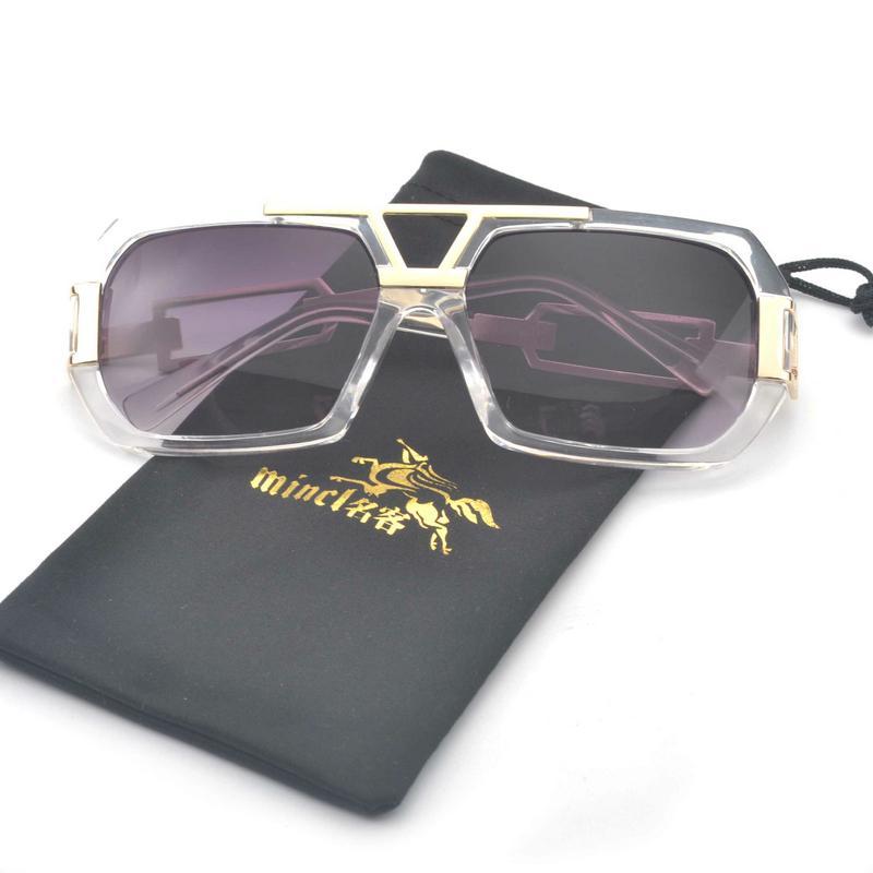 Erkekler Güneş Gözlüğü Kare Mincl / 2020 Gözlük Tasarımcısı Güneş Kadın Moda Erkek Kadın Photochromic UV400 OHRTC