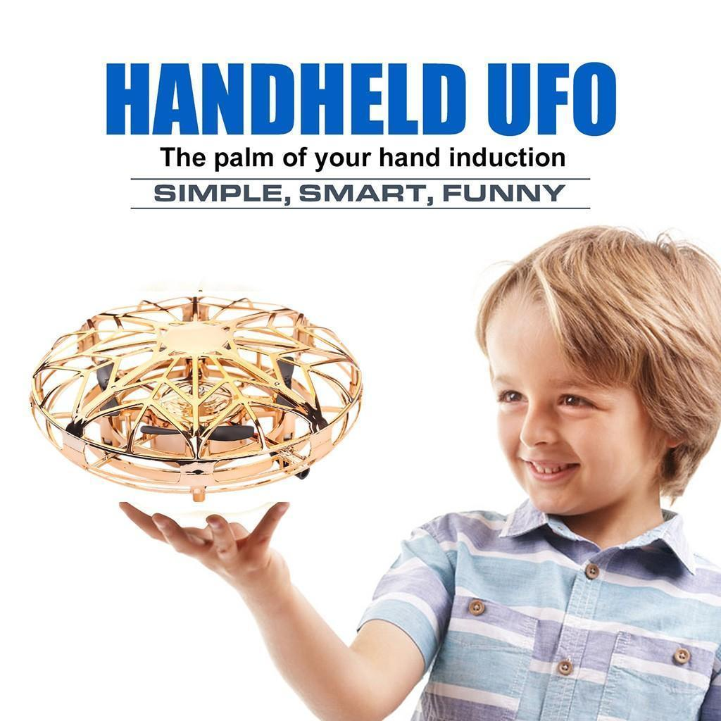 Anti -Collision Led Fliegen Hubschrauber Magic Hand Ufo Aircraft Sensing Mini Induction Drone Ufo Spielzeug für Kinder Elektro-elektronisches Spielzeug durch DHL