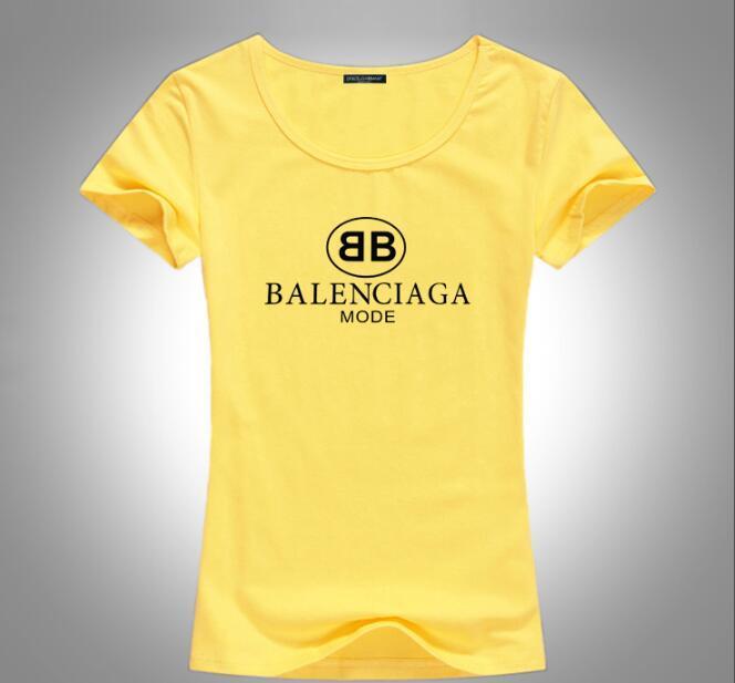 Livraison gratuite 2020 en gros lettre à manches courtes occasionnels femmes -Fashion impression simple chemise été supérieure mouvement T-shirt blanc