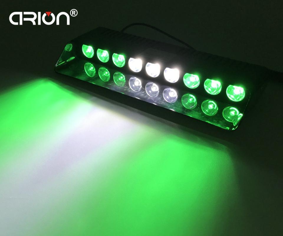 1pc 27W Pare-brise Led Strobe Light Viper voiture flash Signal d'urgence Pompier Beacon Feux d'avertissement Voyant vert blanc vert