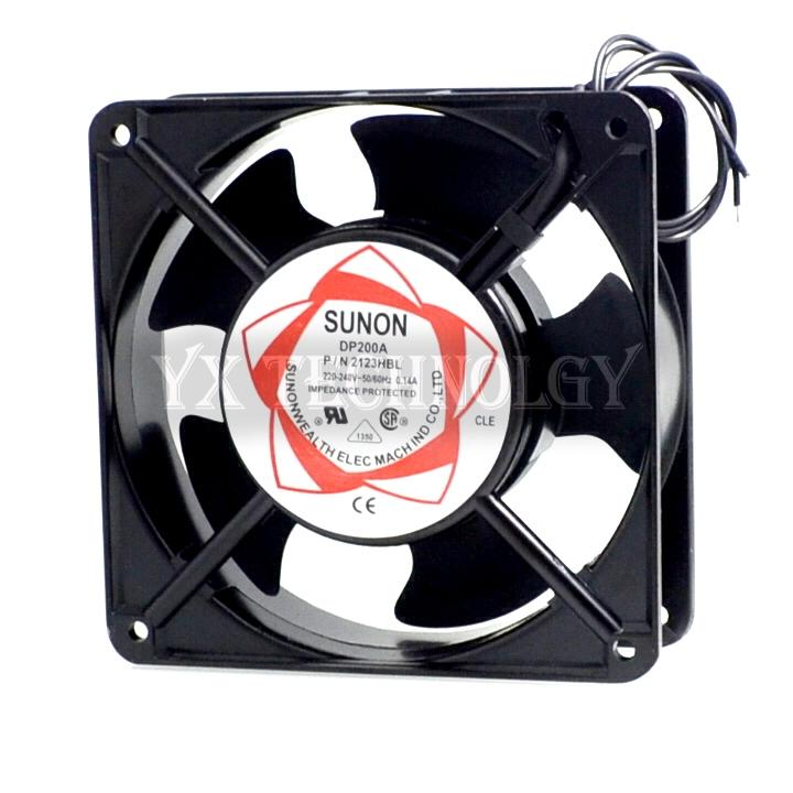 Para Sunon DP200A P / N 2123HBL 2123HSL 2123XBL 2123XSL 12038 120 * 120 * 38MM 120mm ventilador de refrigeración