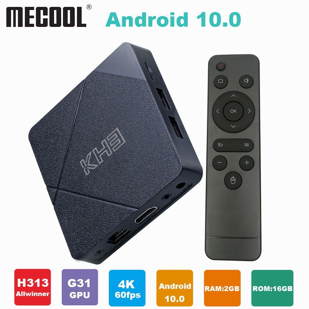 MECOOL KH3 الروبوت صندوق تلفزيون 2 جيجابايت 16 جيجابايت allwinner H313 رباعية النواة 2.4 جرام wifi 100 متر lan hdr 3d الذكية tvbox media player