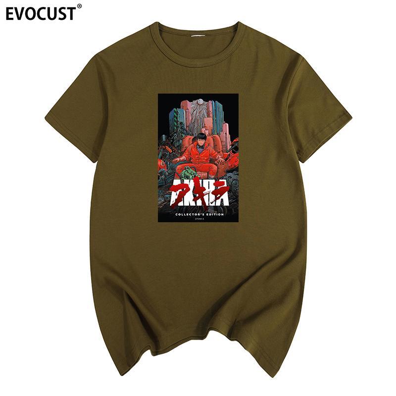Мода 2018 лето AKIRA MANGA лето печать футболка хлопок Мужчины майка Новые женщины TEE