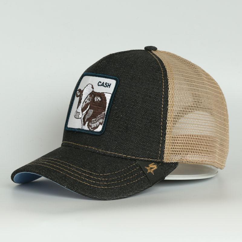 New Fashion 2021 Logo di alta qualità Logo Berretto da baseball Berretto da baseball Black Jeans Trucker Hat Cappuccio in rete traspirante