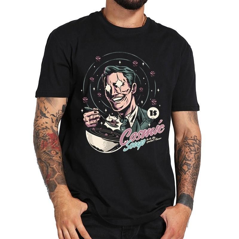 Cosmic Soup Männer-T-Shirt Druck-Mann-T-Shirt Kurzarm Baumwolle Herren-Bekleidung Tops T Shirts