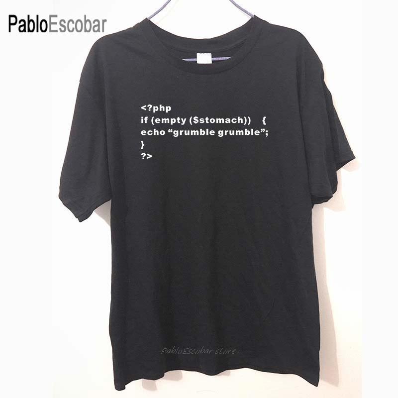 Neue PHP Coder Web Developer Printed Lustiges T-Shirt weiß T Shirt T-Shirt Baumwolle Herren