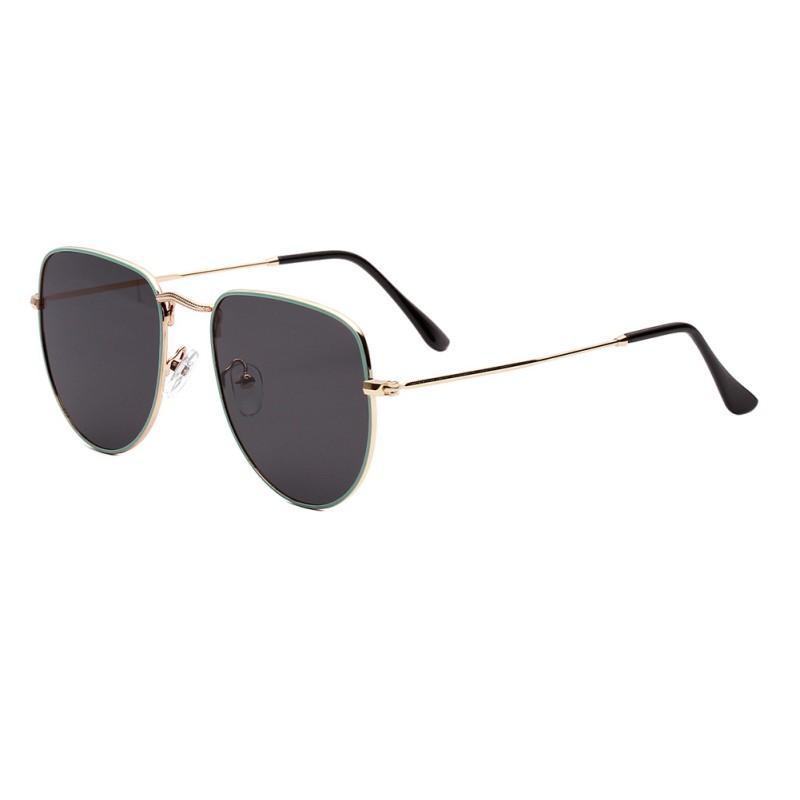 Donne Elegante retro occhiali da sole montatura Metallo Chiaro Vintage AC Lens Festival degli occhiali da sole di guida Occhiali 79