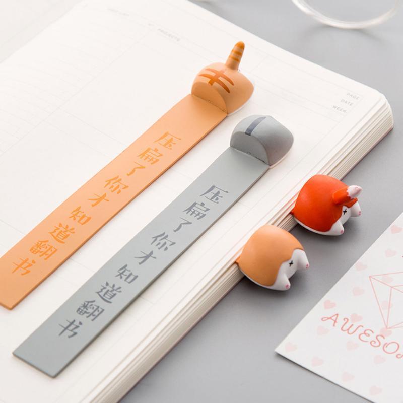 Animaux Cartoon style Ass Favoris bureau de l'école Fournitures de chat livre de chien Marques pour enfants filles cadeau en plastique Nouveauté Kawaii Statione