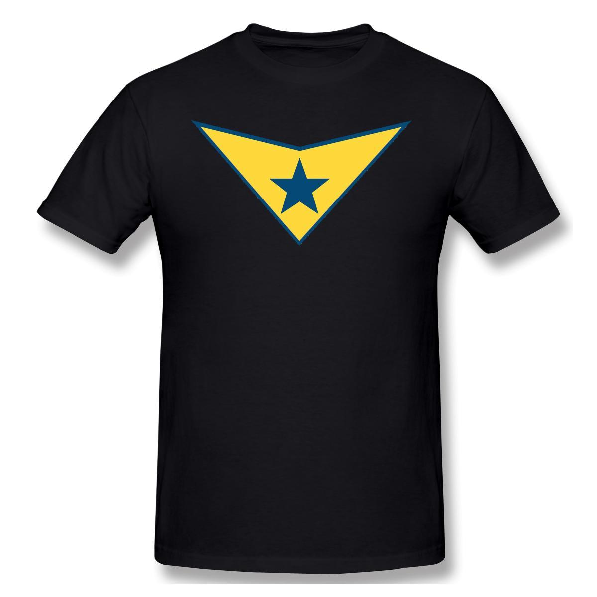Booster Gold Logo T-shirt des hommes de base T-shirt Conception drôle de Wonder Woman Streetwear Homme Imprimer Top Livraison gratuite
