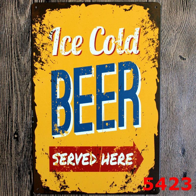Metal Tin Sign Cocktail Beer Wine metal Poster Vintage Craft Etiqueta Ferro Pintura Início Restaurante Decoração Pub Signs Wall Decor HHE1428