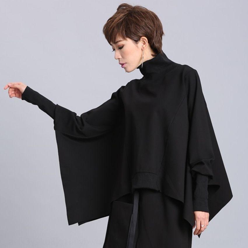 XgAwH suéter primavera y larga calle camisa del palo de las mujeres personalizadas nueva irregulares otoño manga pulloverBat jersey jersey de abrigo suelto 2020