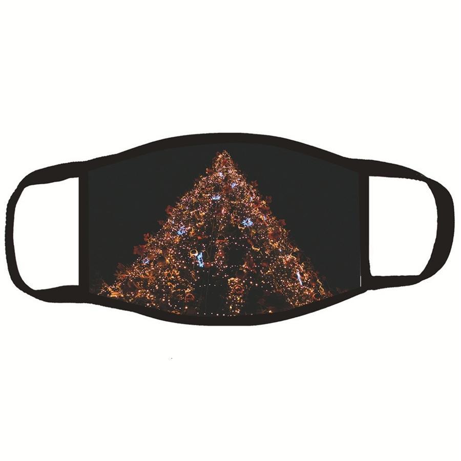 Poussière Boutons utiles pour prévenir la bande des cheveux d'oreille blessures Multifonctionnel élastique Bandeau Père Noël Masque Da388 # 163